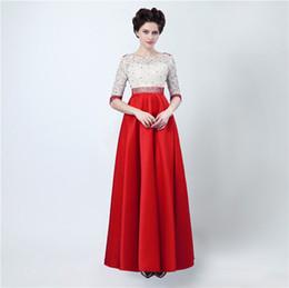 Wholesale Top Designer Gowns - Long Party Dress Abiti Da Cerimonia Donna Gowns Prom Top Lace Floor Length Elegant Evening Dresses Peals