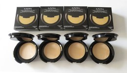 Wholesale Cosmetics Uk - NYX Pressed Face Powder Foundation Bronzer Brands Pressed Powders Face Cosmetics Makeup Cosmetics 4 Colors 7.5g 0.26oz US UK DHL Free