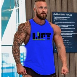 Wholesale Vest Tee Shirt - 2017 Mens Casual Gym sleeveless Fitness Sports Bodybuilding Tank Vest T-Shirt Top Tee 12 Colors 4 Size