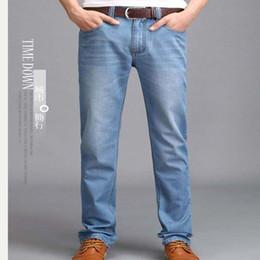 Wholesale Designer Perfume Men - Wholesale- New 2017 Famous Brand summer Men's Jeans,Fashion Designer Straight Large Size thin Denim Jeans Pants Perfume Men