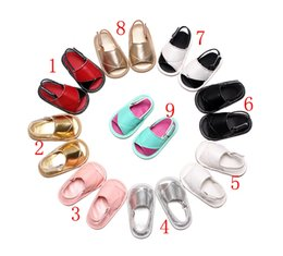 Wholesale Newborn Baby Shoes Wholesale - 2017 New Baby PU summer sandals Camouflage infant First Walkers newborn baby Walkers shoes 17 colors