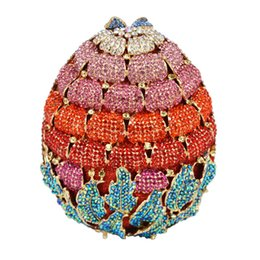 Wholesale Luxury Strawberry - Wholesale- Newest Luxury Diamond Strawberry Evening Clutch Bag for Party Purse Wedding bag Ladies Crystal Evening Cocktail Handbag SC473