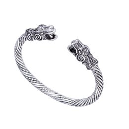 Wholesale H Screws - New Arrival Jormungandr Bangle Vintage Snake Screw Cable Indian H Cuff Male Accessories Bracelet Bangle for Women Love Nail Bangle