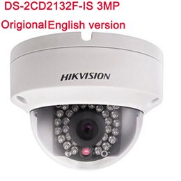 Wholesale Hikvision 3mp Ip Camera - Hikvision Original English IP Camera DS-2CD2132F-IS 3MP IP Camera dome poe cameras audio Support Upgrade Replace DS-2CD2135F-IS