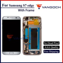 Wholesale Screen Replacement Repair Lcd Galaxy - Grade A+++ Original LCD For Galaxy S7 edge lcd Display Touch Screen Digitizer Assembly Replacement Repair with frame free shipping