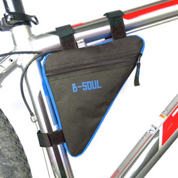 Wholesale Tube Holder Bicycle - Triangle Cycling Bike Bicycle Front Tube Frame Pouch Bag Holder Saddle KSKS Panniers & Bags HOT Sales