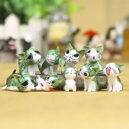 Wholesale Cheese Cat Toy - Hot Sale 3-4cm 9pcs set Chi's Sweet Home Cat Cheese cat Figures Animal Decoration Action Figures Collection Model Toys