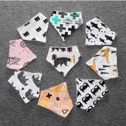 Wholesale Newborn Star - 19 styles baby INS bibs batman fox cloud fruits Print 100% Cotton bibs Burp Clothe Newborn hot selling baby kids Bibs