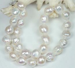 "Wholesale south sea australian earrings - huge natural 11-12mm Australian south seas white pearl necklace 18"""