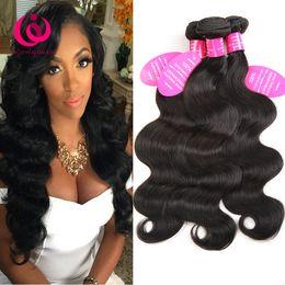 Wholesale 4bundles Virgin Indian Hair - Brazilian Body Wave Hair 4Bundles 8-28inch 8A Grade Unprocessed Mongolian Indian Peruvian Malaysian Virgin Human Hair Extensions Free Ship