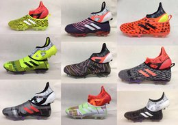 Wholesale Soccer Indoor Shoes Messi - ACE 17.1 Purecontrol FG Football Boots Indoor X 17 16 Purechaos Soccer Shoes Messi Nemeziz Soccer Cleats Predator Mania Champagne Glitch 01