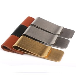 Wholesale Classic Notebook - Hot sale classic stainless steel money notebook pen clip cash holder personality presents 20pcs lots free shipping