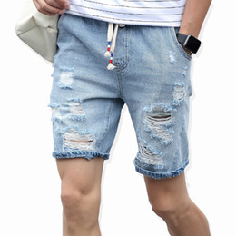 Wholesale Men S Comfortable Jeans - Wholesale-2016 Men's cotton thin denim shorts New fashion summer male Casual short jeans Soft and comfortable casual shorts Free shipping