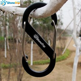 Wholesale Snap Clips Pad - 5PCS 8-Shaped Aluminum Carabiner KeyChain Hook Clip Camping Equipment EDC Gear Traveller Slide Lock Water Bottle Buckles Snap