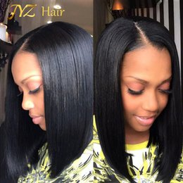 Wholesale Layered Black Wig - JYZ Layered Human Hair Bob Wig For Black Women Glueless Lace Front Human Hair Bob Wigs With Side Bangs Full Lace Short Wigs