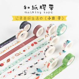 Wholesale One Sided Masks - Wholesale- 2016 1.5cm*10M Japanese Infeel Me One of My Day Decorative Washi Tape DIY Scrapbooking Masking Craft Tape School Office Supplies