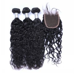 Wholesale the special link for customer best quality Natural wave hair bundles inch with piece closure inch