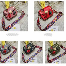Wholesale Kid Shoulder Messenger School Bag - Back To School Brand New Bags Kids Purse Fashion Embroidery Butterfly Shoulders Backpack For Baby Children DHL Fast Shipping