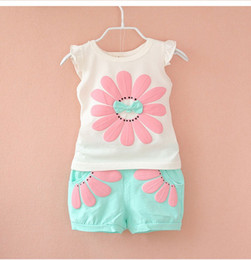 Wholesale Tracksuits For Baby Girls - Detail 2017 Summer Newborn Infant Baby Girls Clothes Casual Sports Brand Printed Tracksuits For Baby Girls Clothing Outfits Sets