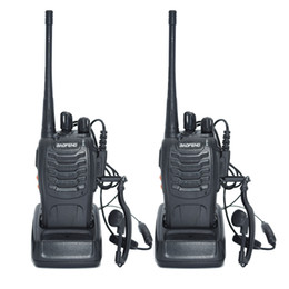 Wholesale Uhf Portable Transceiver - 2pcs Walkie Talkie Radio BaoFeng BF-888S 5W Portable Ham CB Radio Two Way Handheld HF Transceiver Interphone bf-888s