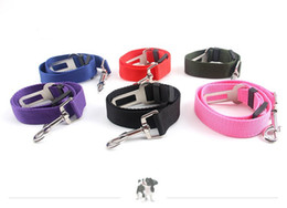 Wholesale Dog Leash Collars - New Dog Pet Car Safety Seat Belt Seat Clip Seatbelt Harness Restraint Lead Adjustable Leash Travel Collar dog set belt