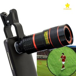 Wholesale Zoom Cell Phone - Telescope Lens 8x Zoom Unniversal Optical Camera Telephoto Len with Clip for Iphone Samsung HTC Sony LG Mobile Smart Cell Phone