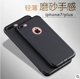 Wholesale Tpu Gel Candy Case - New design Ultra-Thin Matte Frosted Shockproof Soft TPU Case Candy Color Gel Silicone Cover For iPhone 7 6 6S Plus with Dust plug
