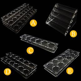 vitrines Promotion Ecig Supports Acryliques Présentoir Pour 60ml E Liquide E-cigarette Jus Chubby Gorilla Bouteilles Show Shelf Rack Case Date DHL