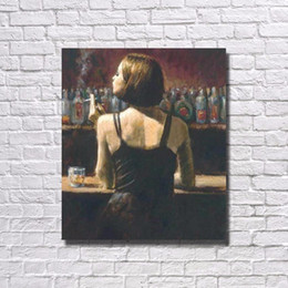 Wholesale Girl Pop Art - Sexy Girl in The Bar ,Pure Hand Painted Pop Art Oil Painting On High Quality Canvas.customized size accepted ali-bouti