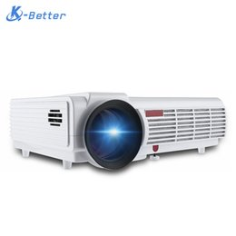 Wholesale Dlp Projector Android - Wholesale-5000Lumens 3D Home Projector Support 1920*1080Pixels Video TV Android WIFI Projector With Free 3D Glasses