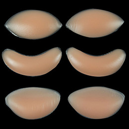 Wholesale Silicone Breasts Pads - DHL Free Chicken Fillets Silicone Breast Enhancers Bra Insert Pad silicone Bra Push Up Invisiable Inserts Breast Enhancers Pads 300pairs