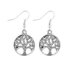 Wholesale Vintage Earring Tree - Vintage Punk Alloy Hollow Tree Of Life Earrings For Women Lady Jewelry Bijouterie Best Friends Gift