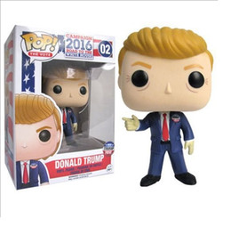 Wholesale Bobble Free - High quality 10cm Vinyl Bobble Head Amecian President TRUMP Action Fugures Toy For Collection, EMS free shipping