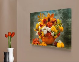 Wholesale Framed Flower Pictures - Modern 1 Panel Daisy Flower Classical Giclee Printing On Canvas For Living Room Cafe Home Decor Wall Art Picture Wholesale Decoration