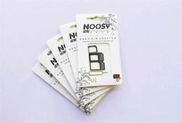 t мобильный iphone 4s Скидка Хорошее качество noosy адаптер с извлечения pin 4in1 NOOSY Nano Micro Standard SIM-карты конвертер для iphone4/5 / 6 Все мобильный телефон