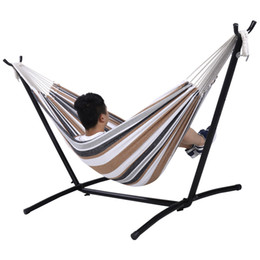 Wholesale new saving - Double Hammock With Space Saving Steel Stand Includes Portable Carry Bag New