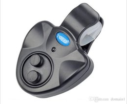 Alarme sonore de poisson de morsure électronique en Ligne-Wireless Sound LED Light Sea Fishing Bite Alarms Fishing Buffer Alert Fishing Rod Light Outdoor Electronic Clip-on Fish Bite Alarm Finder