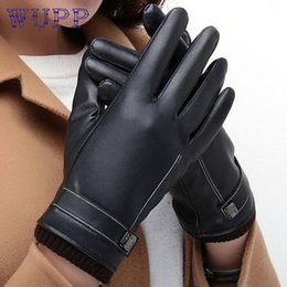 Wholesale Leather Ski Gloves Women - Wholesale- New Arrival Women Touch Thermal Winter Motorcycle Ski Snow Snowboard Gloves or12