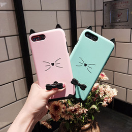 Wholesale Cute Cat Ear Iphone Case - Lovely Cute Cat Ear Silicone Soft Back Case Skin Cover For iPhone 8 7 6S 6 Plus
