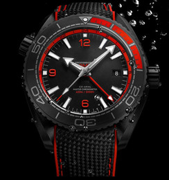 Wholesale Luxury New Style AAA Top Quality Planet Ocean M GMT Deep Black And Red Automatic Machinery Mens Watch Men s Sport Wrist Watches