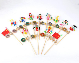 Wholesale Cheap Animal Puppets - Free shipping Cheap Wholesale simulation animal shook the hand drum drum drum toy puppet doll shook his stall supply