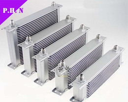 Wholesale Oil Cooler Row - universal British Type Oil Cooler Core 10AN 7 rows-10rows- 13rows-15rows-19 rows-25 rows 28rows 30rows Silver Color