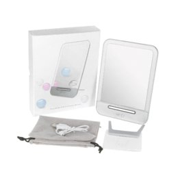 Wholesale Mirror Beads - Abody Portable Touch Screen Rechargeable LED Cosmetic Makeup Mirror with 29 energy-saving SMD LED beads 3-gear dimming function
