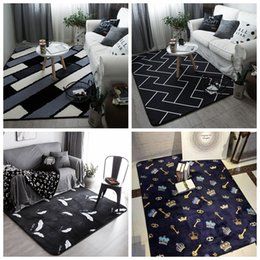 Wholesale European Style Coffee Table - Nordic simple black and white personality tide fashion rug living room bedroom coffee table mat door mattress carpet