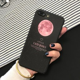 Wholesale Iphone Case Cartoon Girl - Cartoon Airship Astronaut Stars Moon Case For iphone 7 Case Cute Boy Girl Cover Hard Phone Cases For iphone7 6 6S Plus 5 5S
