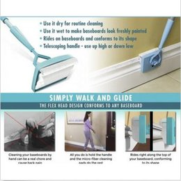 Wholesale Tool Dust Covers - Baseboard Buddy Cleaning Mop Simply Walk Glide Extendable Microfiber Dust Brush Household Cleaning Tool Baseboard Buddy Mops LJJC5870 48pcs