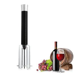 2019 luftdruck weinflaschenöffner Luftdruck Wein Flaschenöffner Aluminiumlegierung Körper und Teflon Stahl Korkenzieher Flaschenpumpen Korkenzieher Cork Out Tool OOA1979 günstig luftdruck weinflaschenöffner