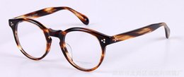 óculos pessoas oliver Desconto Oliver povos óculos quadro OV5336U homens e mulheres para restaurar antigas formas redondas plana caixa de óculos