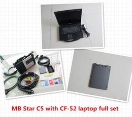 Wholesale Tester Laptop Pc - Newest MB Star C5 SD Conenct c5 with laptop cf52 Toughbook diagnostic PC with xentry epc software V2017.07 ssd for benz cars and trucks
