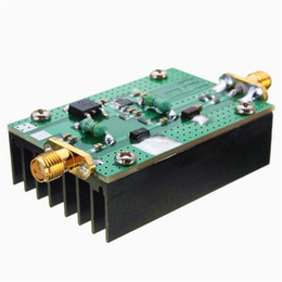 Freeshipping 1 MHz-500 MHZ Novo HF FM VHF UHF RF Amplificador de Potência Para Ham Radio + Dissipador de Calor Menor Preço de Fornecedores de rádios de fiambre hf